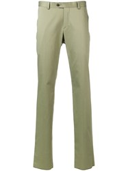 Z Zegna Slim Fit Chinos Green