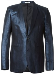 Paul Smith Metallic Blazer Blue