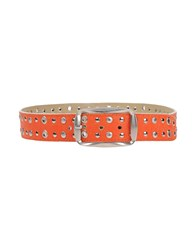 V.D.O. Original Small Leather Goods Belts Men Orange