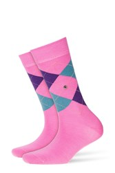 Burlington Printed Virgin Wool Ankle Socks Pink