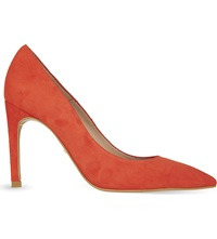 Whistles Cornel Suede Pointed Toe Pumps Red