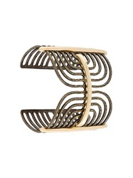 Lanvin Antiqued Spiral Bracelet Metallic
