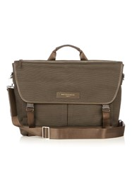 Want Les Essentiels Jackson 15 Cotton Canvas Messenger Bag Khaki