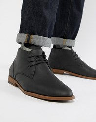New Look Faux Leather Chukka Boot In Black