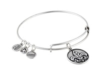 Alex And Ani Fleur De Lis Ii Rafaelian Silver Finish Bracelet