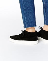 Asos District Suede Trainer Boots Black