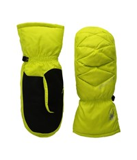 Spyder Candy Down Mitten Acid Extreme Cold Weather Gloves Green