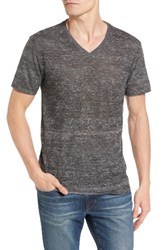 The Rail Men's Burnout V Neck T Shirt Grey Heather Burnout