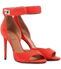 Givenchy Shark Suede Sandals Red