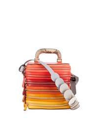 Anya Hindmarch The Stack Six Zip Top Handle Bag Pink Multicolor