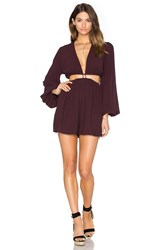 Zimmermann Chroma Cut Out Playsuit Wine