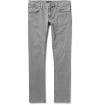 Nudie Jeans Long John Skinny Fit Stretch Denim Gray