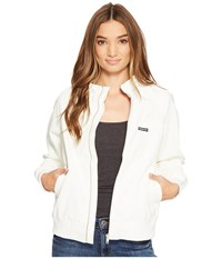 Members Only Perforated Boyfriend Jacket White Women's Coat