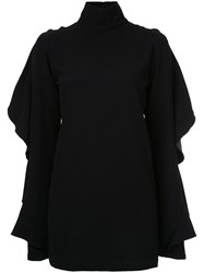 Strateas Carlucci Ruffled Blouse Polyester S Black