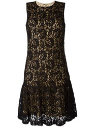 Moschino Lace Tiered Dress Black