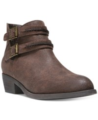 Carlos By Carlos Santana Laney Ankle Booties Women's Shoes Cognac