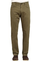 Mavi Jeans Zach Straight Fit Twill Pants Green Olive Twill