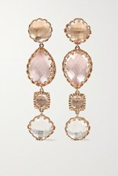 Larkspur And Hawk Sadie 14 Karat Rose Gold Dipped Quartz Earrings One Size