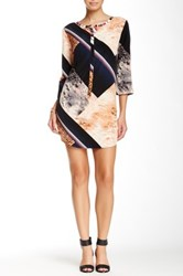 Glam Printed Dress Black