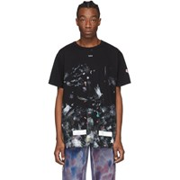 Off White Ssense Exclusive Black Galaxy Brush T Shirt