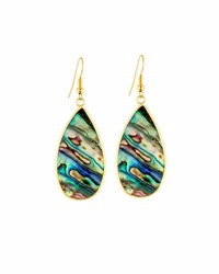Panacea Abalone Hue Teardrop Earrings Multi
