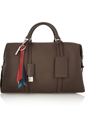 Fendi Boston Textured Leather Weekend Bag