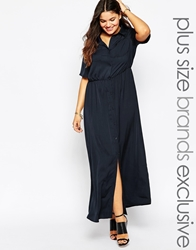 Alice And You Utility Shirt Maxi Dress Navy