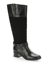 Bandolino Cabbey Quilted Riding Boots Black