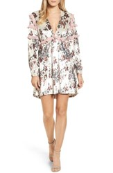 Kas Women's New York Melisa Floral Velvet And Lace Shift Dress Multi