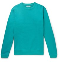 Nonnative Coach Garment Dyed Loopback Cotton Jersey Sweatshirt Turquoise