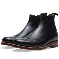 Grenson Jacob Brogue Chelsea Boot Black
