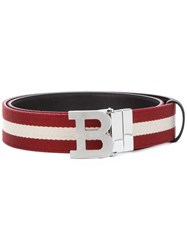 Bally B Buckle Belt Red
