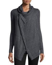Design History Cashmere Blend Crossover Cardigan Storm Gray