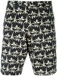 Ps Paul Smith Palm Tree Print Shorts Black