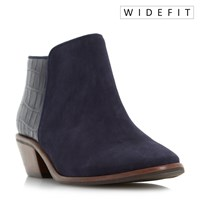 Dune W Parrson Stacked Heel Ankle Boots Navy