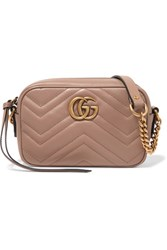 Gucci Gg Marmont Camera Mini Quilted Leather Shoulder Bag Blush