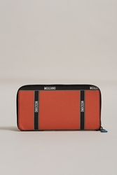 Moschino Long Zip Around Wallet Orange