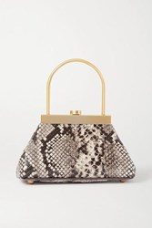 Cult Gaia Estelle Mini Snake Effect Leather Tote Neutral