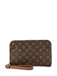 Louis Vuitton Vintage Orsay Clutch Brown