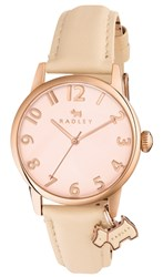 Radley Women's Liverpool Street Leather Strap Watch Nude Rose Gold