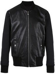 Versus Zipped Leather Jacket Black
