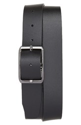 Canali Men's Carbon Leather Belt Navy