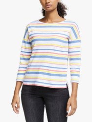 John Lewis Collection Weekend By Linen Cotton Striped Top Multi