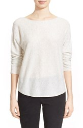 Women's Vince Scoop Neck Cashmere Pullover Heather Cloud