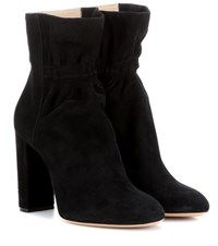 Chloe Suede Ankle Boots Black