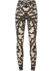 Mcq By Alexander Mcqueen Mcq Alexander Mcqueen Lace Print Leggings Nude And Neutrals