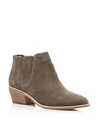 Joie Barlow Pointed Toe Chelsea Booties Charcoal Gray