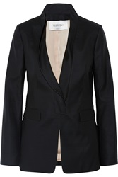 Valentino Wool And Silk Blend Blazer Black