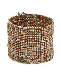 Design Lab Lord And Taylor Multi Row Beaded Cuff Bracelet