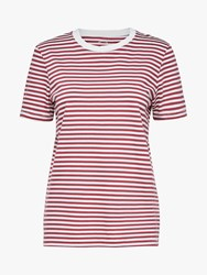Selected Femme My Perfect Stripe T Shirt Earth Red